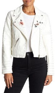 BlankNYC Floral Studded Faux Leather Moto Motorcycle Jacket