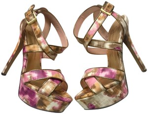 Jessica Simpson Ankle Strap Pink Brown Sandals