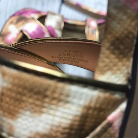 Jessica Simpson Ankle Strap Pink Brown Sandals Image 1
