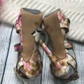 Jessica Simpson Ankle Strap Pink Brown Sandals Image 3