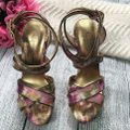 Jessica Simpson Ankle Strap Pink Brown Sandals Image 4