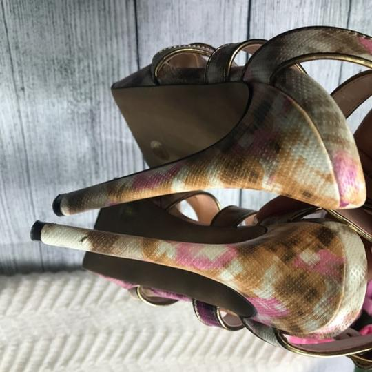 Jessica Simpson Ankle Strap Pink Brown Sandals Image 6