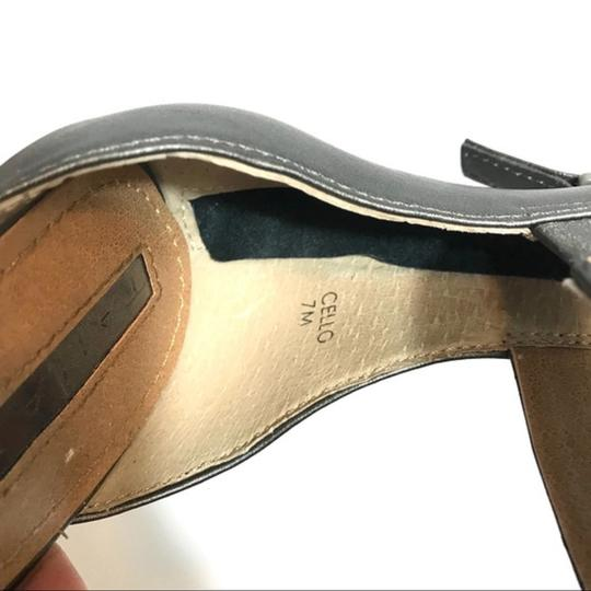 Tahari Bow Accent Ankle Strap Back Zip Closure Gray Sandals Image 1