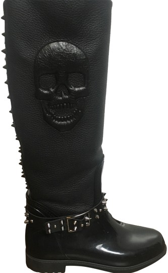 Preload https://img-static.tradesy.com/item/24216192/philipp-plein-black-rainy-bootsbooties-size-eu-38-approx-us-8-regular-m-b-0-1-540-540.jpg