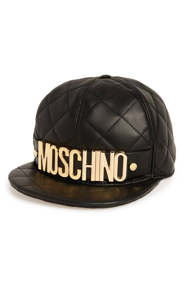 Moschino Black Quilted Leather Baseball Cap M Hat - Tradesy b26d75bcec56