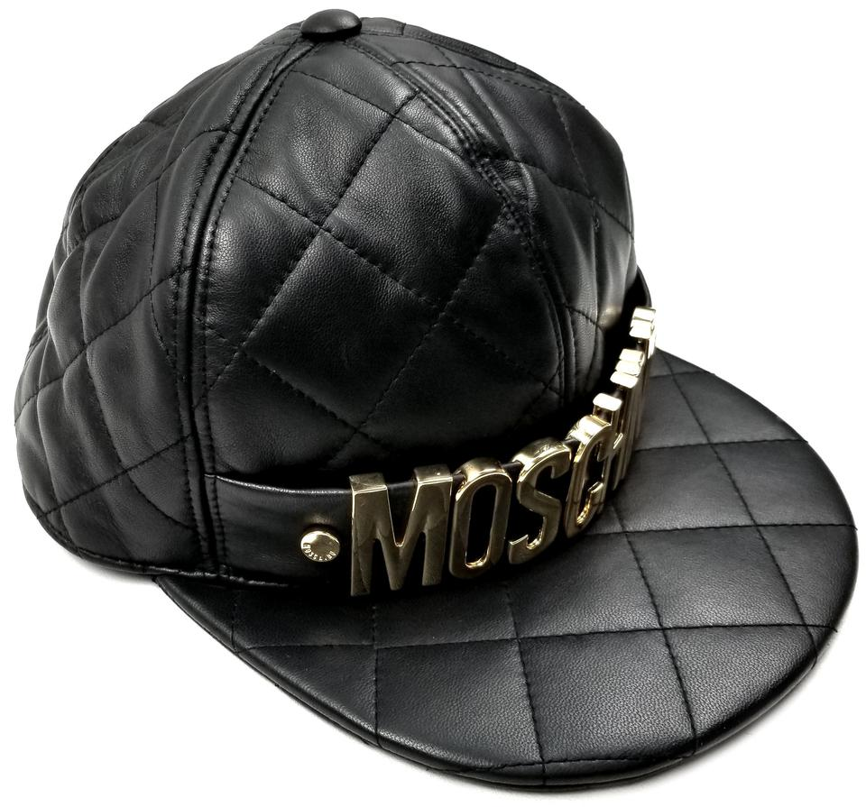 439a62eca2dcc Moschino MOSCHINO Quilted Leather Baseball Cap Sz M Image 7. 12345678