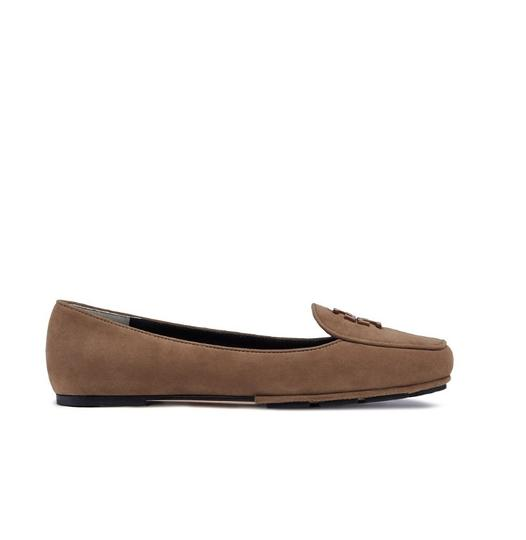 Tory Burch Taupe Flats Image 1