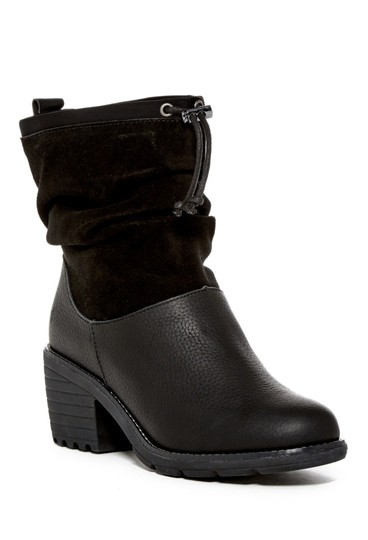 EMU Australia Leather Suede Round Toe Black Boots Image 5