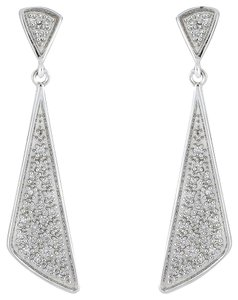 Bony Levy Bony Levy 18K White Gold Diamond Prism Drop Earrings 0.29 ctw