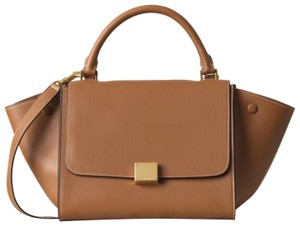 Céline Trapeze Trapeze Camel Small Trapeze Satchel in Brown Tan Natural