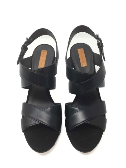 Reed Krakoff Confortable Classic Leather Boxer Platform Black Sandals Image 2