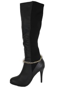 Alwaystyle4you Women Silver Gold Metal Chain Boot Bracelet Bling Anklet Shoe Charm