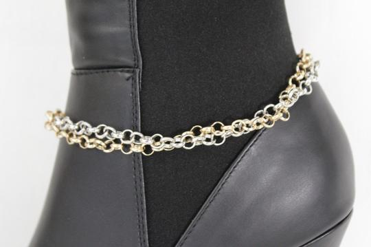 Alwaystyle4you Women Silver Gold Metal Chain Boot Bracelet Bling Anklet Shoe Charm Image 7