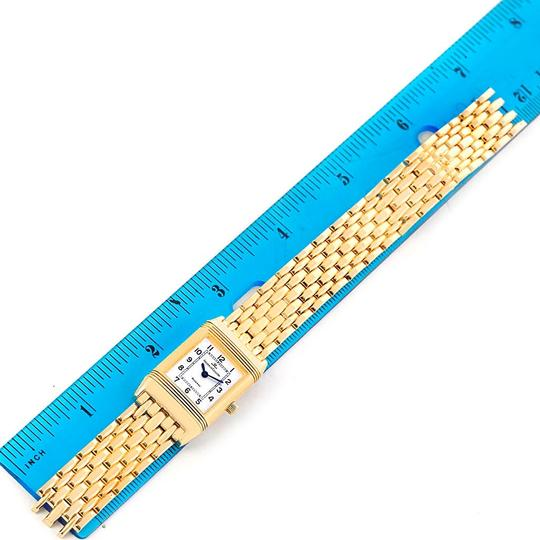 Jaeger-LeCoultre Jaeger LeCoultre Reverso Silver Dial Yellow Gold Ladies Watch Q2611110 Image 11