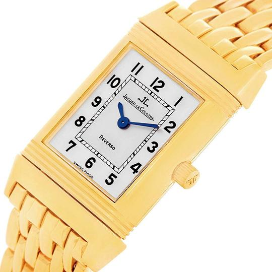 Jaeger-LeCoultre Jaeger LeCoultre Reverso Silver Dial Yellow Gold Ladies Watch Q2611110 Image 5