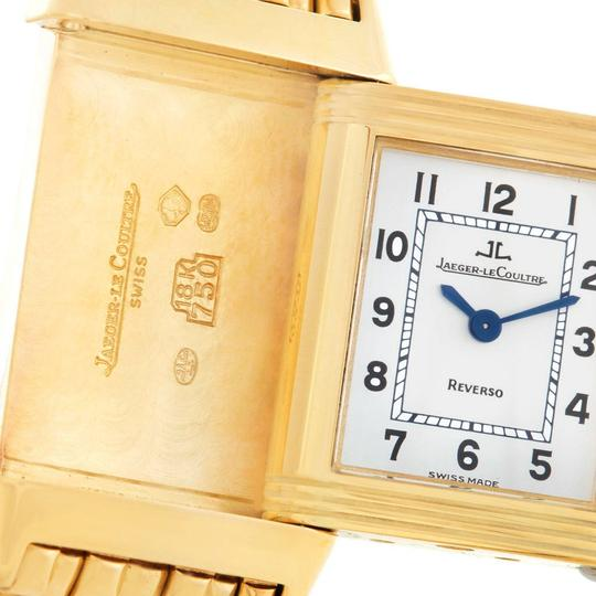 Jaeger-LeCoultre Jaeger LeCoultre Reverso Silver Dial Yellow Gold Ladies Watch Q2611110 Image 8