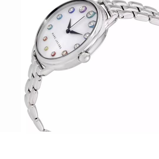 Marc Jacobs New Marc Jacobs Betty Silver Tone Stainless Steel Glitz Dial Watch MJ3541 Image 1