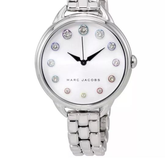 Marc Jacobs New Marc Jacobs Betty Silver Tone Stainless Steel Glitz Dial Watch MJ3541 Image 2