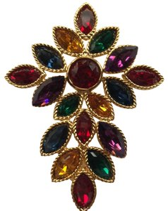 Napier Napier Multi Crystal Brooch From Royalton Collection