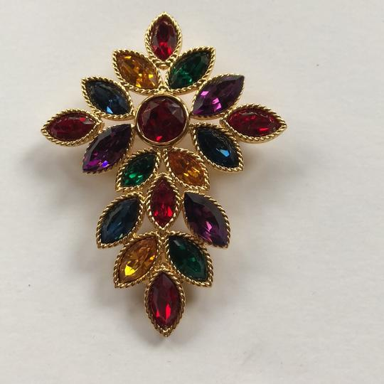 Napier Napier Multi Crystal Brooch From Royalton Collection Image 1