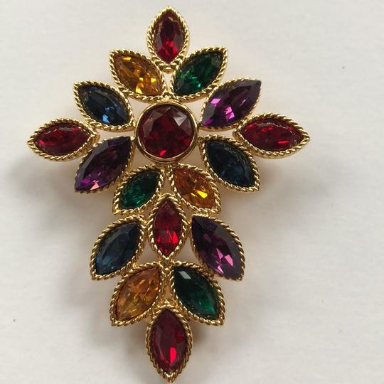 Napier Napier Multi Crystal Brooch From Royalton Collection Image 2
