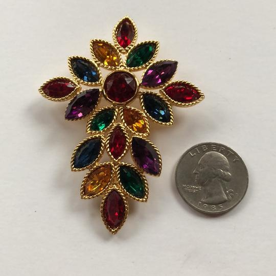 Napier Napier Multi Crystal Brooch From Royalton Collection Image 4