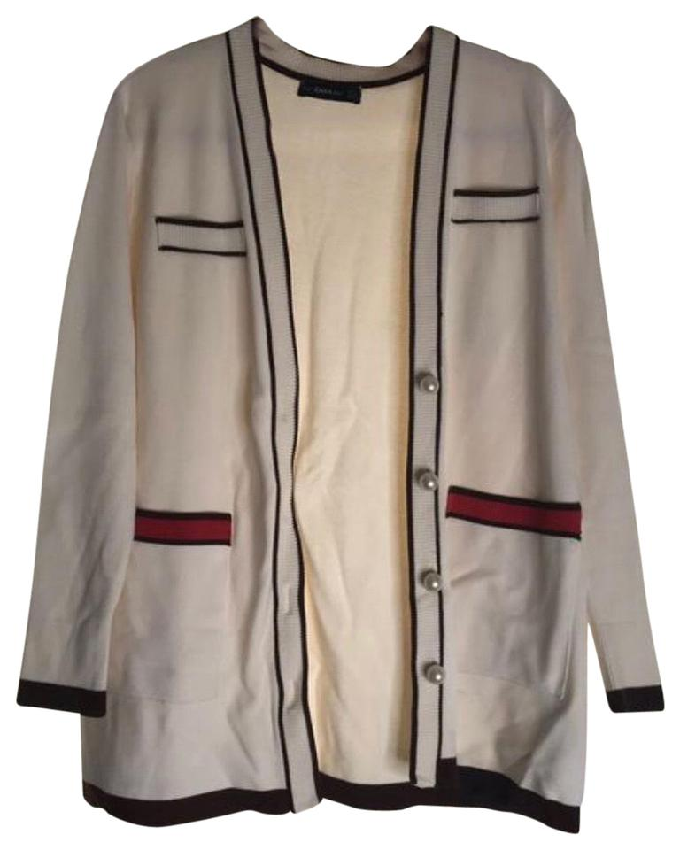 9136c8d8995 Zara Gucci Inspired Cardigan White Sweater - Tradesy