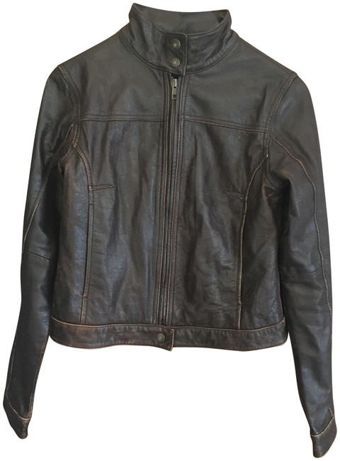 Preload https://img-static.tradesy.com/item/24217404/american-eagle-outfitters-brown-leather-racer-jacket-size-0-xs-0-1-650-650.jpg