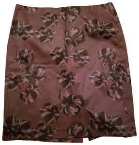Ann Taylor New With Tags Pencil Flower Skirt Purple
