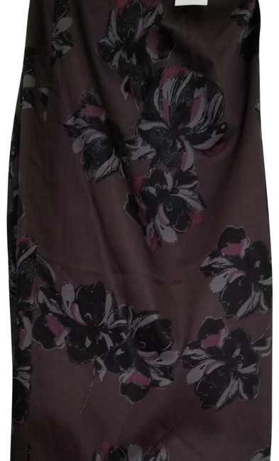 Ann Taylor New With Tags Pencil Flower Skirt Purple Image 1
