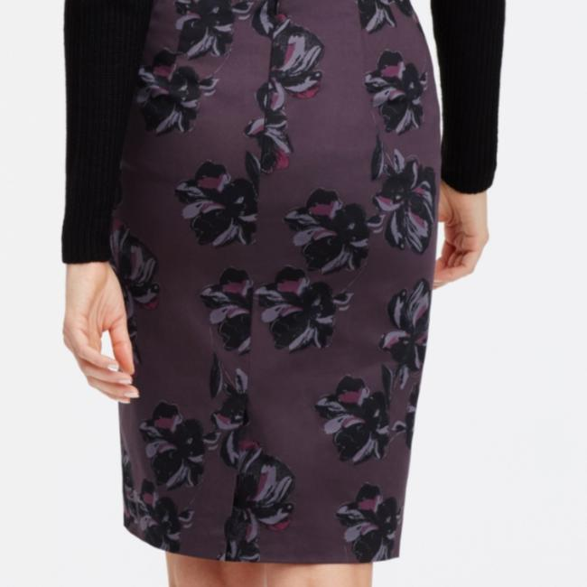 Ann Taylor New With Tags Pencil Flower Skirt Purple Image 2