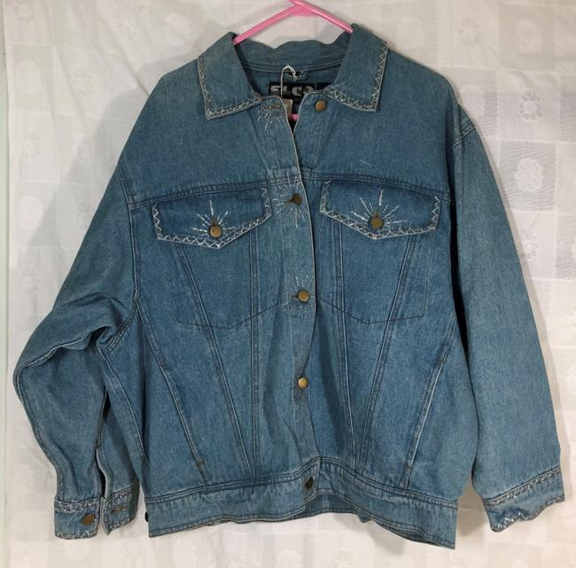 CC EBERT BLUE Womens Jean Jacket Image 2