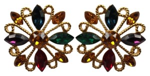 Napier Multi Gemstone Crystal Earrings
