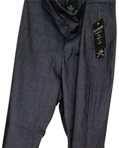 Zac & Rachel New With Tags Indigo Plus-size And Size Straight Pants Blue