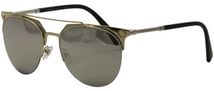 Versace Versace 2181 1252/6G Pale Gold/Silver Round Sunglasses