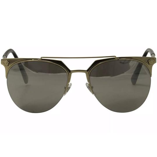Versace Versace 2181 1252/6G Pale Gold/Silver Round Sunglasses Image 1