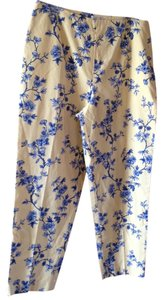 Talbots Floral Capri Capri/Cropped Denim-Light Wash