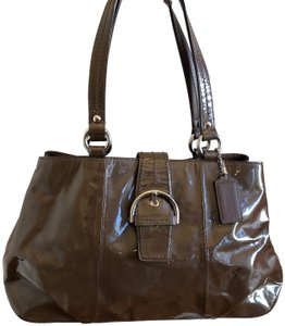 coach Patent Leather Satchel in Brown