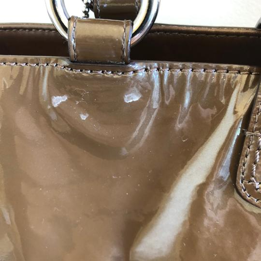 coach Patent Leather Satchel in Brown Image 6