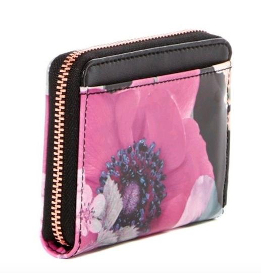 Ted Baker NEON POPPY FLORAL ZIPPED MINI WALLET Image 1