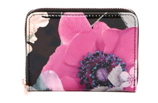 Ted Baker NEON POPPY FLORAL ZIPPED MINI WALLET Image 2
