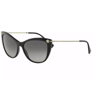 Versace Versace Women's VE4345B VE/4345/B GB1/11 Black Fashion Cat Eye Sunglasses
