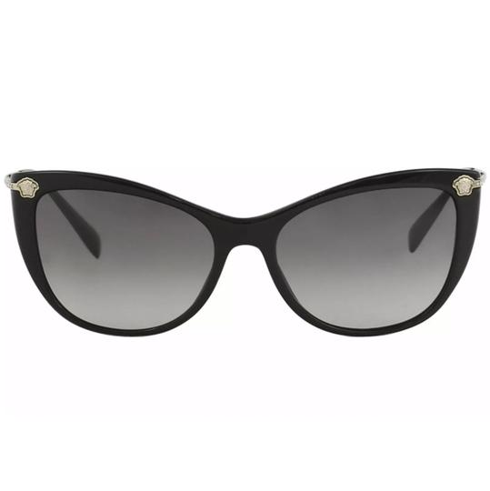 Versace Versace Women's VE4345B VE/4345/B GB1/11 Black Fashion Cat Eye Sunglasses Image 1