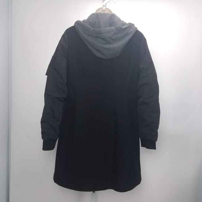 Marc New York Casual Grunge Hoodie Wool Trench Coat Image 1