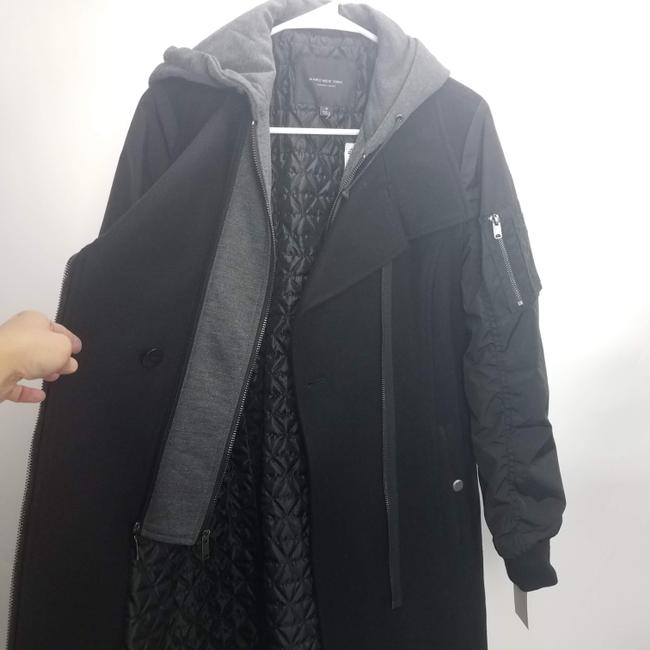 Marc New York Casual Grunge Hoodie Wool Trench Coat Image 3