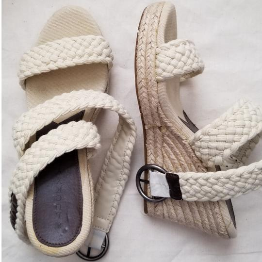 Lucky Brand Espadrilles Like New Size 9.5 Off White Cream Wedges Image 0