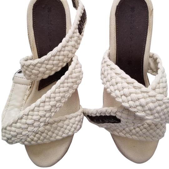 Lucky Brand Espadrilles Like New Size 9.5 Off White Cream Wedges Image 1