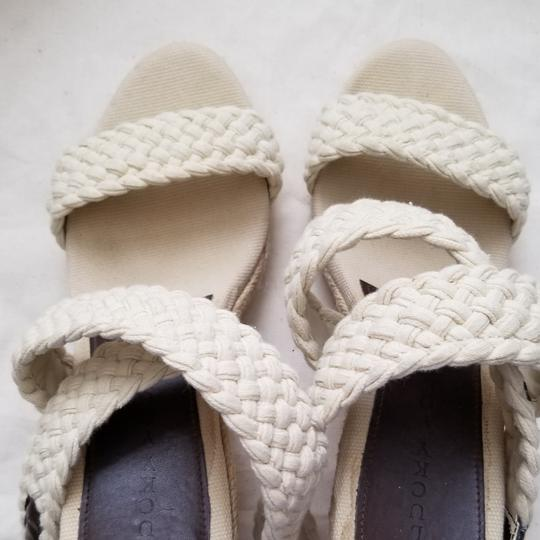 Lucky Brand Espadrilles Like New Size 9.5 Off White Cream Wedges Image 3