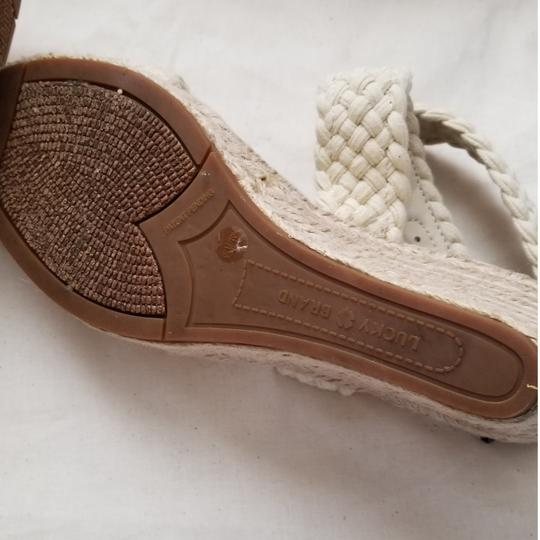 Lucky Brand Espadrilles Like New Size 9.5 Off White Cream Wedges Image 5