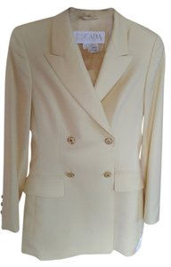 Escada ESCADA by MARGARETHA LEY Wool Skirt Suit 34 EU, Yellow